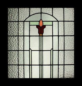 Stunning Large Art Deco English Stained Glass Window Awesome