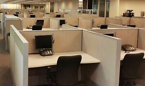 Used Office Cubicles Haworth Compose Cubicles 4x5