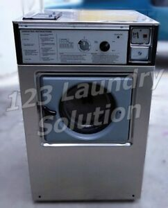 Wascomat Front Load Washer Double Load W105 Stainless Steel Used