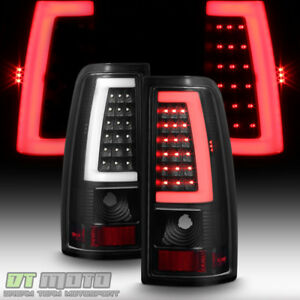 Black 1999 2006 Gmc Sierra 1500 99 02 Chevy Siverado Led Tube Tail Lights Lamps