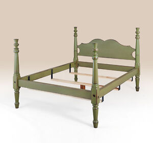 Primitive Full Size Bed Frame Handcrafted Bedroom Furniture Wood American Made