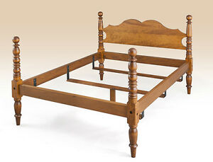 American Made Handcrafted Wood Full Size Bed Frame Country Bedroom Furniture New