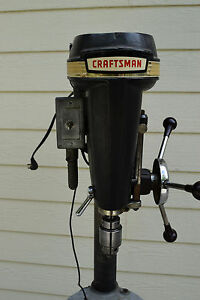 1950 s Vintage Sears Craftsman 150 Floor Drill Press Stand Working Jacobs Chuck