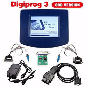 Main Unit Of Digiprog Iii Digiprog3 V4 94 Obd2 St01 St04 Cable Power Adapter New