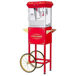 Great Northern Popcorn Co Red 4 Ounce All Star Gnp 400 Popcorn Machine With Cart