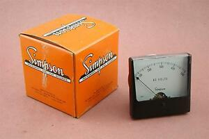 Simpson Ac Volts Meter 0 500 Fs 150 Acv