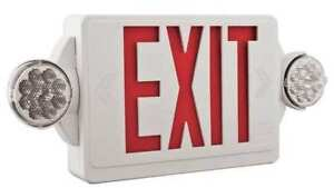 Quantum Series Led Lamps Exit Sign With Emergency Lights