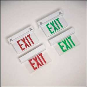Big Beam Steel Led Exit Sign With Battery Backup