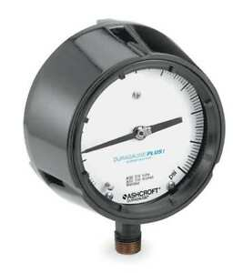 Pressure Gauge 0 To 15 Psi 4 1 2in 1 2in Ashcroft 451279ss04lxll15