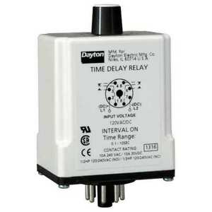 Time Delay Relay 120vac dc 10a dpdt