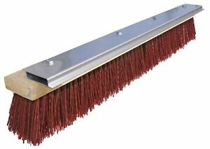 Tough Guy Maroon Plastic Magnetic Blade Push Broom 10h932
