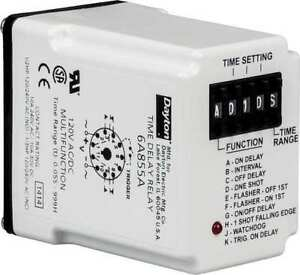 Time Delay Relay 12vdc 10a dpdt