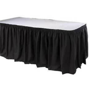 Table Skirting 17 1 2 Ft shirred black Phoenix Tskt 17 bk