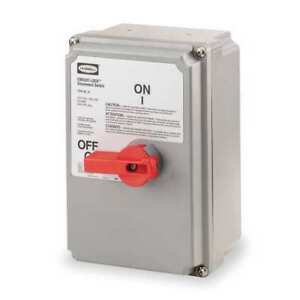 60 Amp 600vac Single Throw Enclosed Disconnect Switch 3p