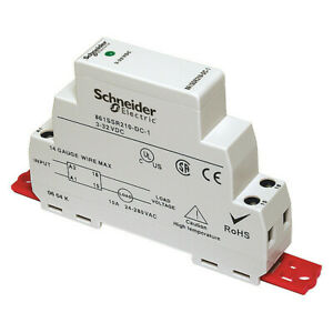 Schneider Electric 861ssra208 ac 1 Solid State Relay 90 To 280vac 8a