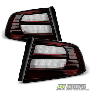 Blk Tinted 04 08 Acura Tl Tail Lights Brake Lamps Left right 2004 2005 2006 2007