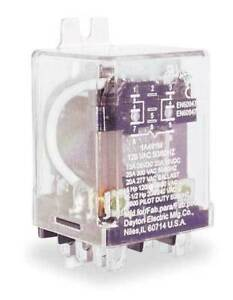 Dayton 1a491 Enclosed Power Relay 8 Pin 120vac dpdt