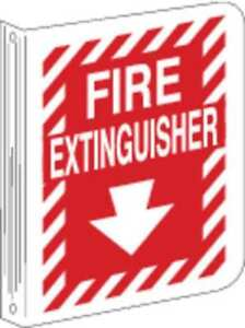 Fire Extinguisher Sign 12 X 9in wht r Brady 94008