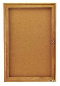 Enclosed Cork Bulletin Board 36 X 24 1 Door Quartet 363