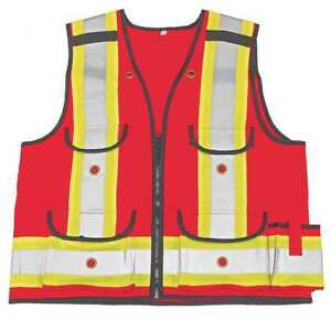 Small Class 1 High Visibility Surveyor Vest Red Viking 4915r s