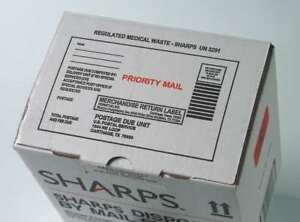 Sharps Compliance Sc3g129008 Sharps Disposal By Mail 3 Gal Hinged