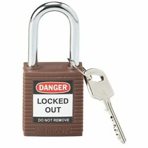 Lockout Padlock kd brown 1 3 4 h pk6 Brady 101956