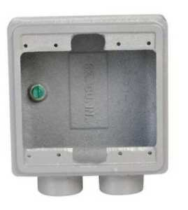Weatherproof Box 2gang 3 4 Hub Appleton Electric Fss 2 75 a