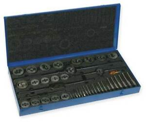 Tap And Die Set 1 4 To 1 In 46 Pc Cleveland C00613
