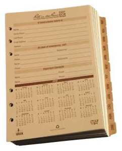 Rite In The Rain 9260d Planner Calendar Pages Daily 4 5 8 X7 In