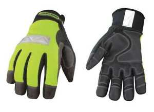 Cold Protection Gloves s high Visibility Green pr