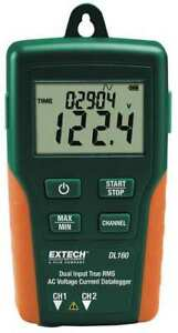 Dual Input Ac Voltage current Datalogger Extech Dl160