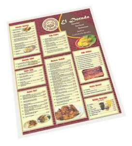 12 Menu Laminating Pouches Sircle Menu 07