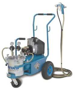 Binks 98 3164 Hvlp Paint Sprayer 1 Stage 2 8 Gal