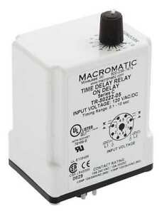 Time Delay Relay 120vac dc 10a dpdt Macromatic Tr 50522 05