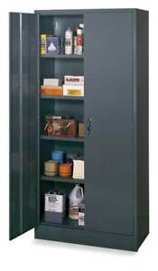 Storage Cabinet gray 78 In H 36 In W Edsal 1ufe4