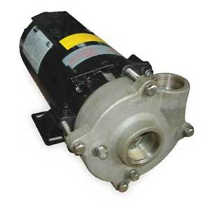 Dayton 2zwu5 Stainless Steel 1 Hp Centrifugal Pump 208 230 460v