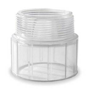 1 1 2 Mnpt X Solvent Pvc Male Adapter Sched 40 Harvel Clear H436015ls