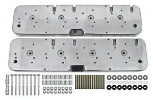 Polished Aluminum Ls Chevy Cnc Valve Cover Adapter Kit To Chevy 1955 1985 Covers