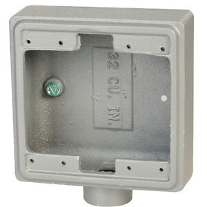 Weatherproof Box 3 4 In Hub 32cu In Appleton Electric Fs 2 75