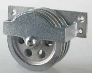 Double Pulley Block sheave Od 3 1 4 In Peerless 3 120 30 86