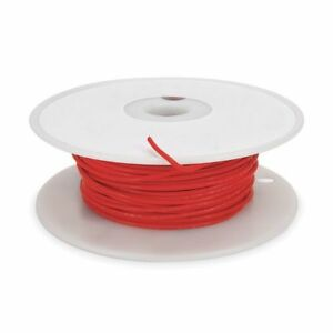 High Temp Lead Wire 22ga red Tempco Ldwr 1055