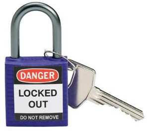 Lockout Padlock kd purple 1 2 5 h pk6 Brady 118933