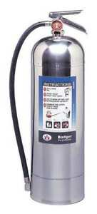 Fire Extinguisher 2 5 Gal Capacity Water Wp 61 Badger