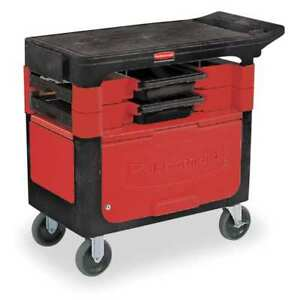 Trade Cart service Bench 38 In L black Rubbermaid Fg618088bla