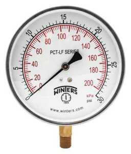 Gauge pressure 4 1 2in 0 To 30 Psi Winters Pct321lf