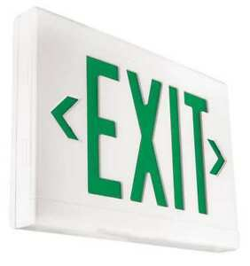 Hubbell Lighting Dual lite Led Exit Sign battery Backup Lxugwe