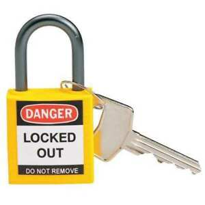 Lockout Padlock kd yellow 1 2 5 h pk6 Brady 118930