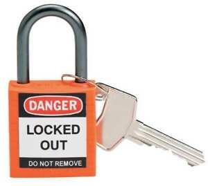 Lockout Padlock ka orange 1 2 5 h pk6 Brady 118958