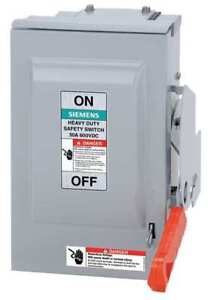 30 Amp 600vac dc Single Throw Solar Disconnect Switch 3p Siemens Hnf361rpv