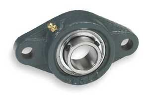 Flange Bearing 2 bolt ball 2 Bore Dayton 3fcw4